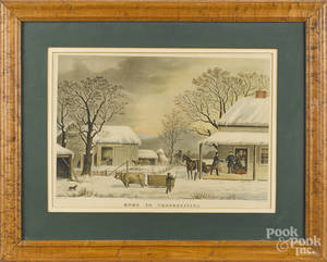 Five Currier  Ives lithographs