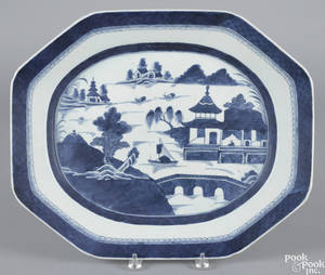 Chinese export porcelain Canton platter 19th c