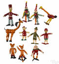 Eleven Jaymar jointed wood childrens book characters