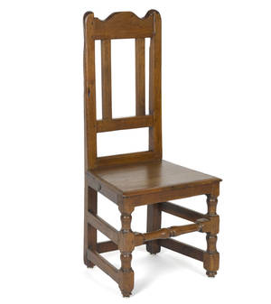William  Mary walnut wainscot side chair ca 1730