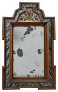 William  Mary courting mirror earlymid 18th c