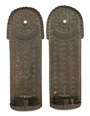 Pair of tin sconces 19th c