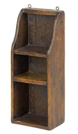 Small pine hanging shelf 19th c