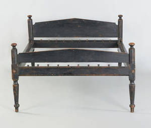 Pennsylvania painted rope bed early 19th c
