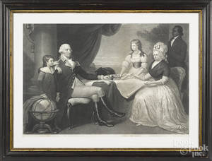 Engraving of the Washington Family by Sartain