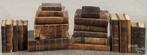 Twentyone antique books on religious topics
