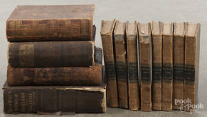Twelve antique history reference books
