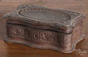 Victorian carved dresser box