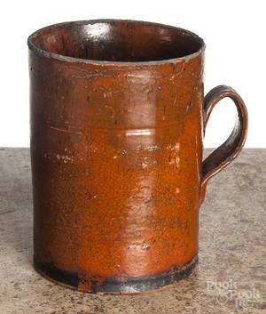 Pennsylvania redware mug
