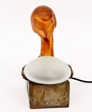 Frankart Figural Globe Lamp L263