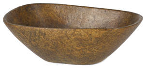 New England oblong burl bowl 19th c