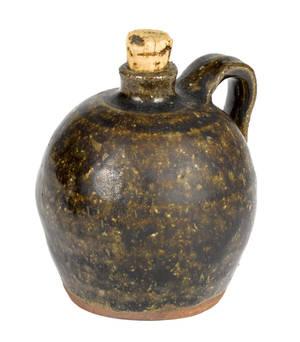 Miniature southern salt glaze stoneware jug 19th c