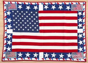 Patriotic American flag quilt