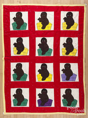 Missouri appliqu quilt with African American children