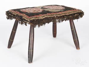 New England painted stool