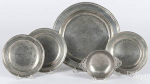 English pewter deep dish