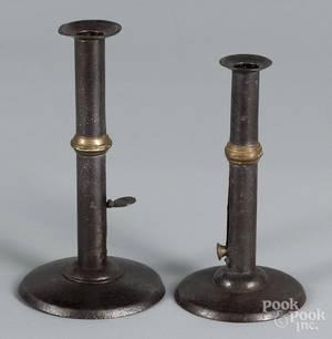 Two hogscraper candlesticks