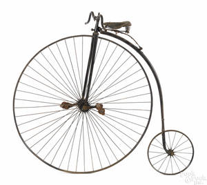 Penny farthing high wheel bicycle late 19th c