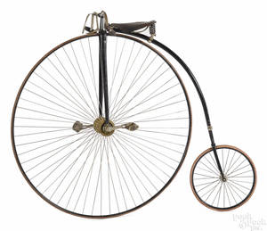 Columbia penny farthing high wheel bicycle late 19th c