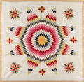 Pennsylvania star of Bethlehem patchwork quilt mid 19th c