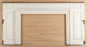 Lancaster Pennsylvania painted pine paneled room end ca 1800