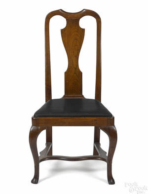 Pennsylvania Queen Anne walnut dining chair ca 1745