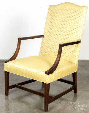 Federal style mahogany lolling chair