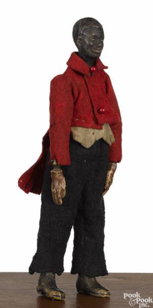 Swiss Bucherer metal ball jointed black Americana figure