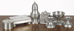 Pewter tablewares 19th c