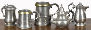 Two English pewter measures 19th c