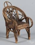 Dolls Adirondack twig chair