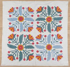 Pennsylvania appliqu Whig rose quilt