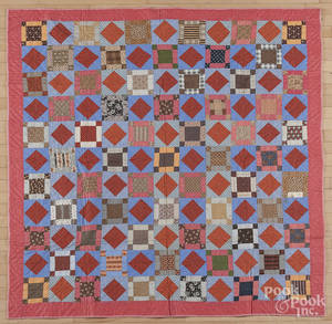 Pennsylvania pieced block and diamond quilt