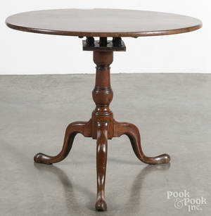 Queen Anne mahogany tea table