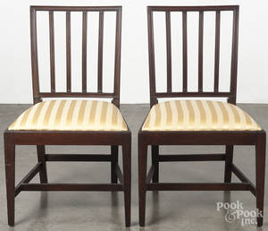 Pair of Hepplewhite mahogany dining chairs