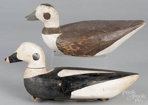 Pair of Maine carved and painted goldeneye duck decoys