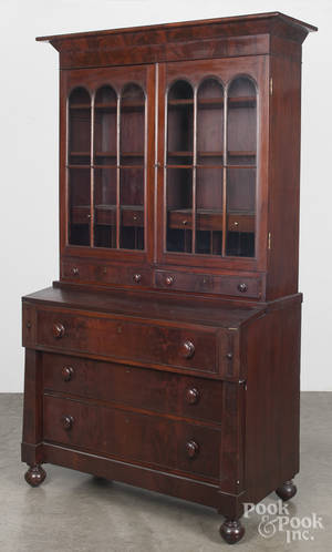 Empire mahogany secretary desk