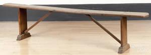 English yew wood bench