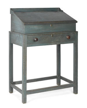 Connecticut painted pine schoolmasters desk 19th c