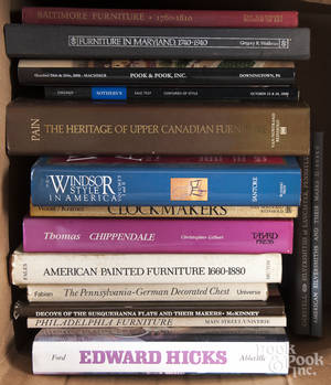 Large group of reference books on Pennsylvania antiques