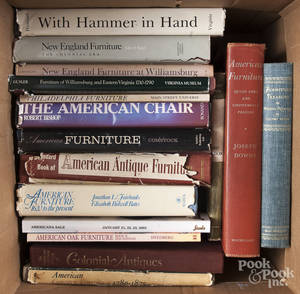 Large group of reference books on antique American furniture