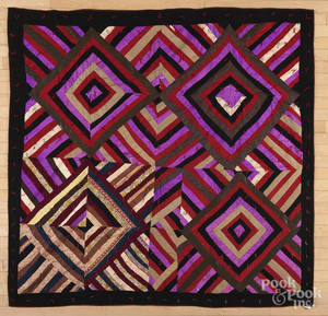 Victorian concentric squares quilt