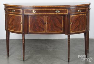 Hickory Hepplewhite style inlaid mahogany sideboard