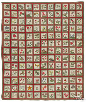 Important New York pieced and appliqu album quilt ca 1850