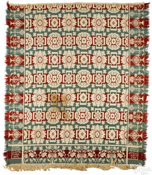 York County Pennsylvania jacquard coverlet