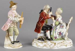 Meissen porcelain figural group 19th c