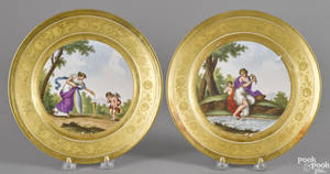 Pair of French or German porcelain cabinet plates 19th c