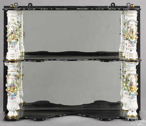 Ebonized hanging shelf late 19th c