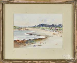 Pair of watercolor coastal scenes