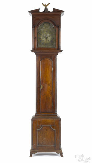 Lancaster County Pennsylvania Chippendale walnut tall case clock ca 1780